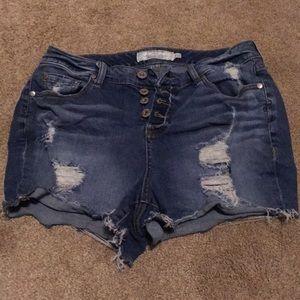 Torrid Distressed Jean Shorts Size 12